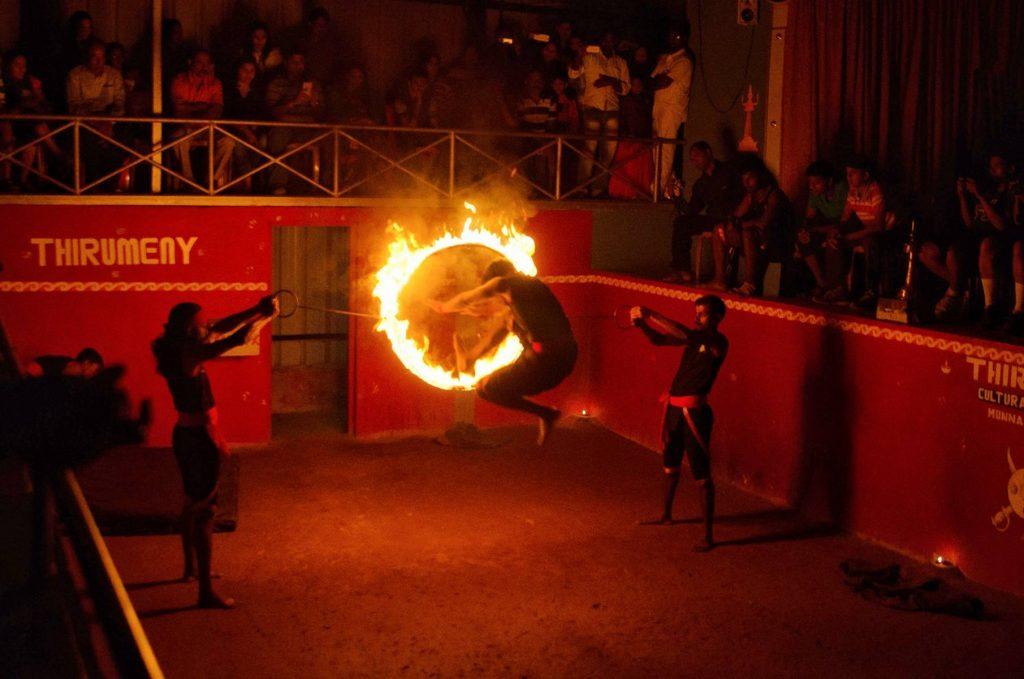 kalari show in fort kochi kerala
