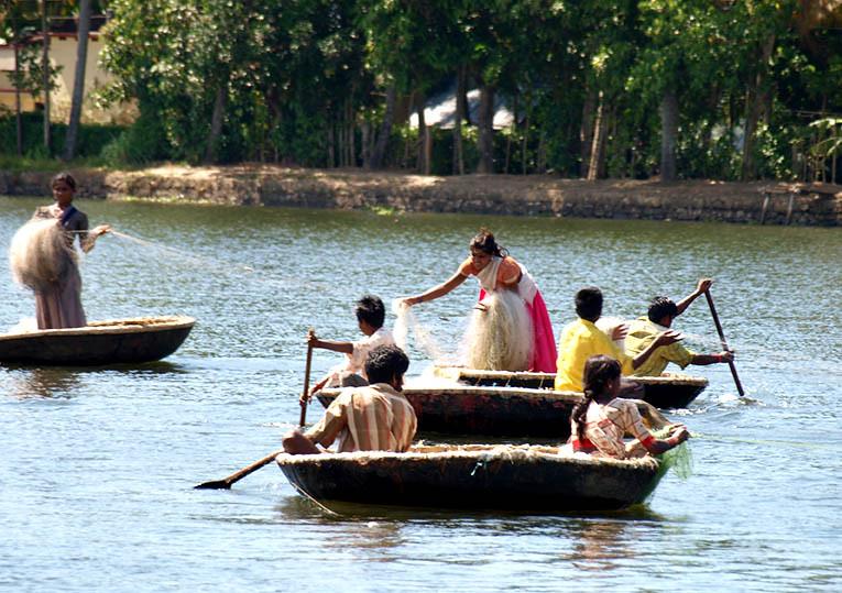 Kerala backwaters fishing