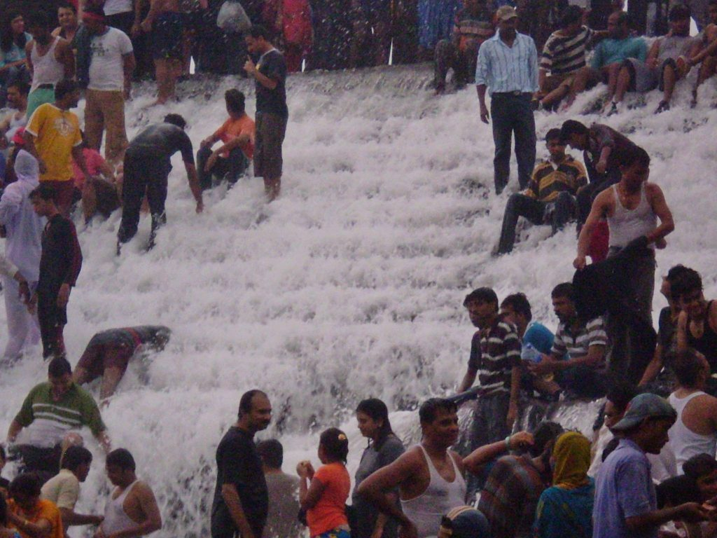 bushi dam waterfals in mumbai and thane